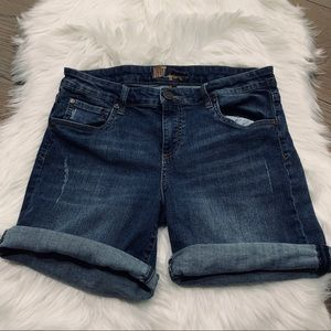 Kut from the Kloth denim shorts distressed size 10